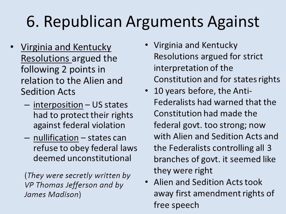 6. Republican Arguments Against