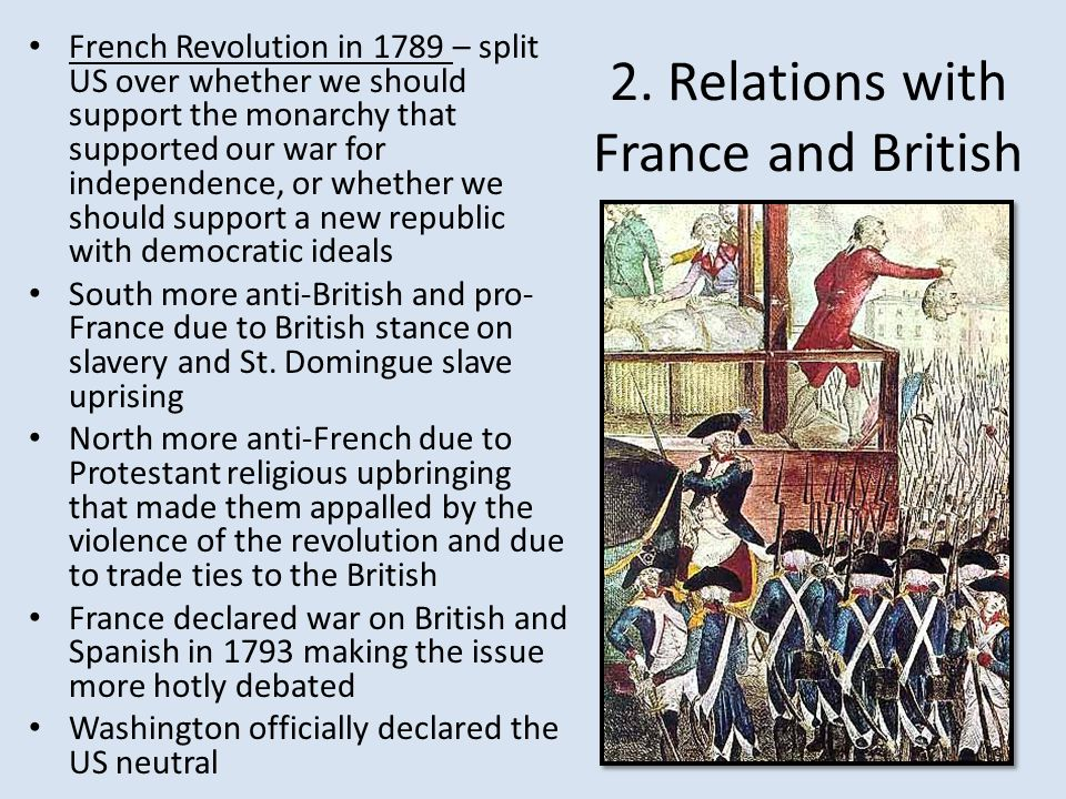 2. Relations with France and British