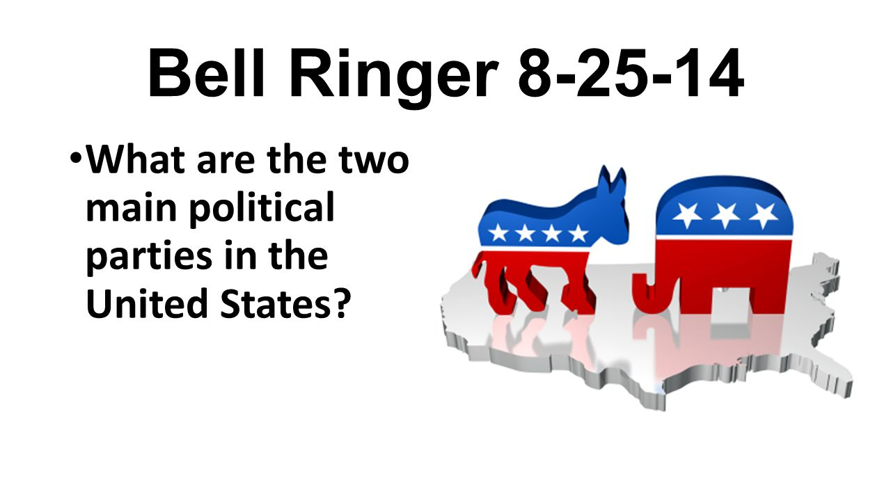 Bell Ringer 8-25-14 What are the two main political parties in the United States