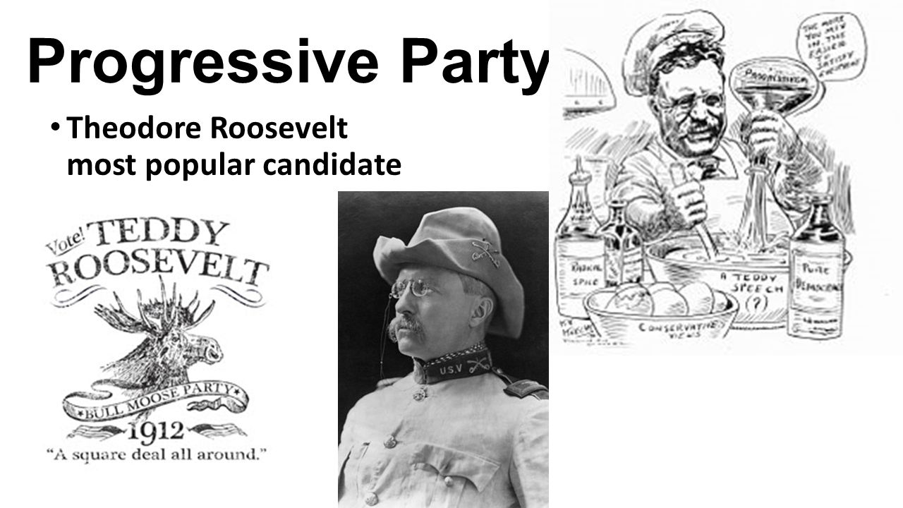 Progressive Party Theodore Roosevelt most popular candidate
