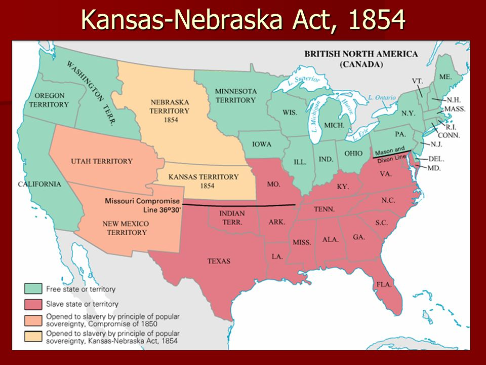 Kansas-Nebraska Act, 1854 Pageant 13e