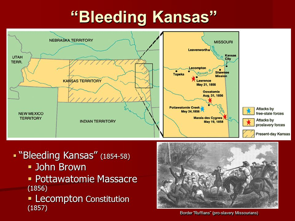 Bleeding Kansas John Brown Pottawatomie Massacre (1856)