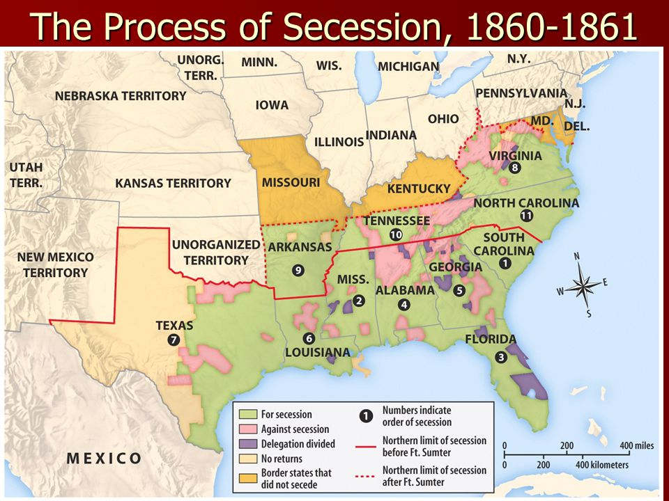 The Process of Secession, 1860-1861