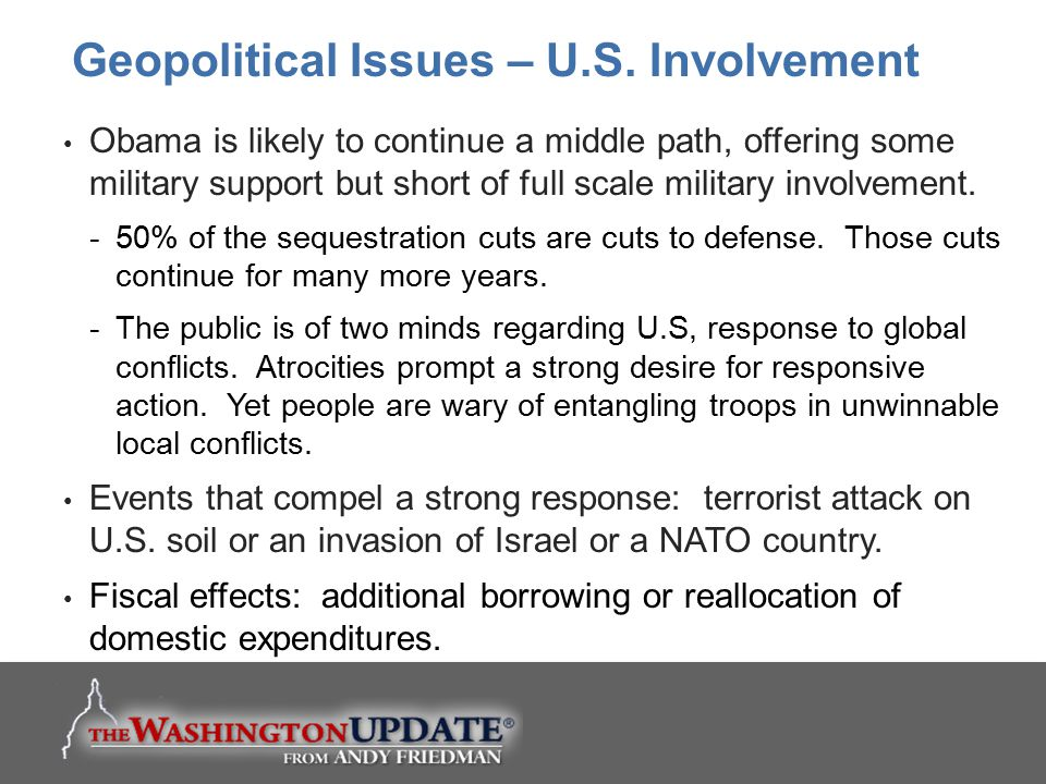 Geopolitical Issues – U.S. Involvement