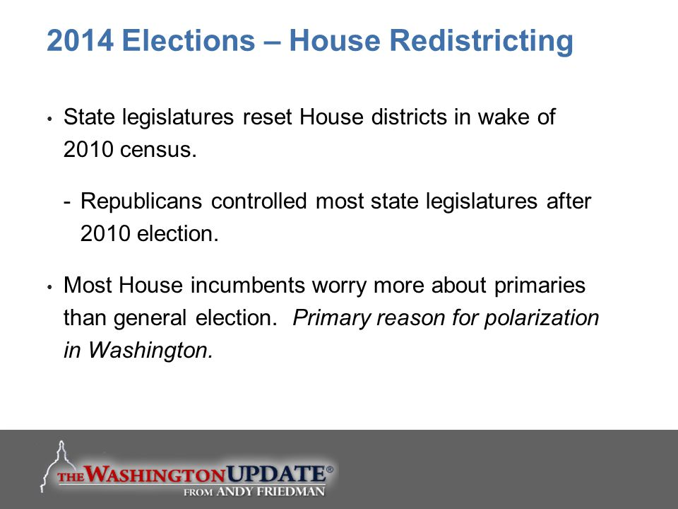 2014 Elections – House Redistricting