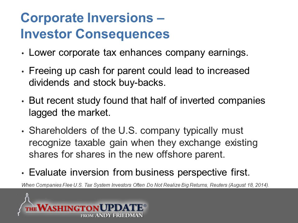 Corporate Inversions – Investor Consequences