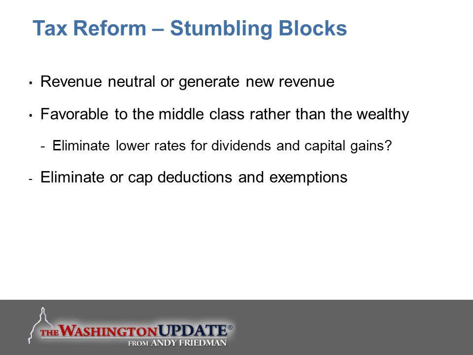 Tax Reform – Stumbling Blocks
