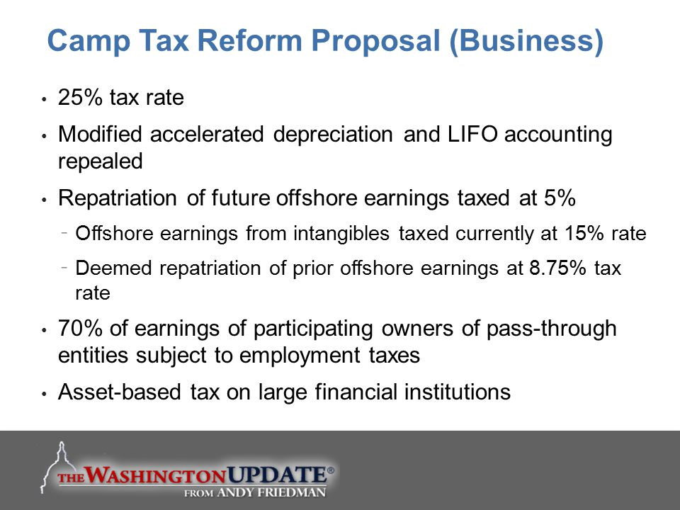 Camp Tax Reform Proposal (Business)