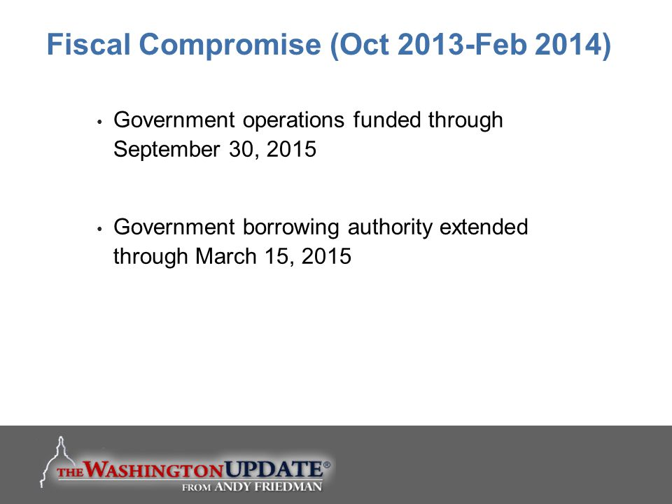 Fiscal Compromise (Oct 2013-Feb 2014)