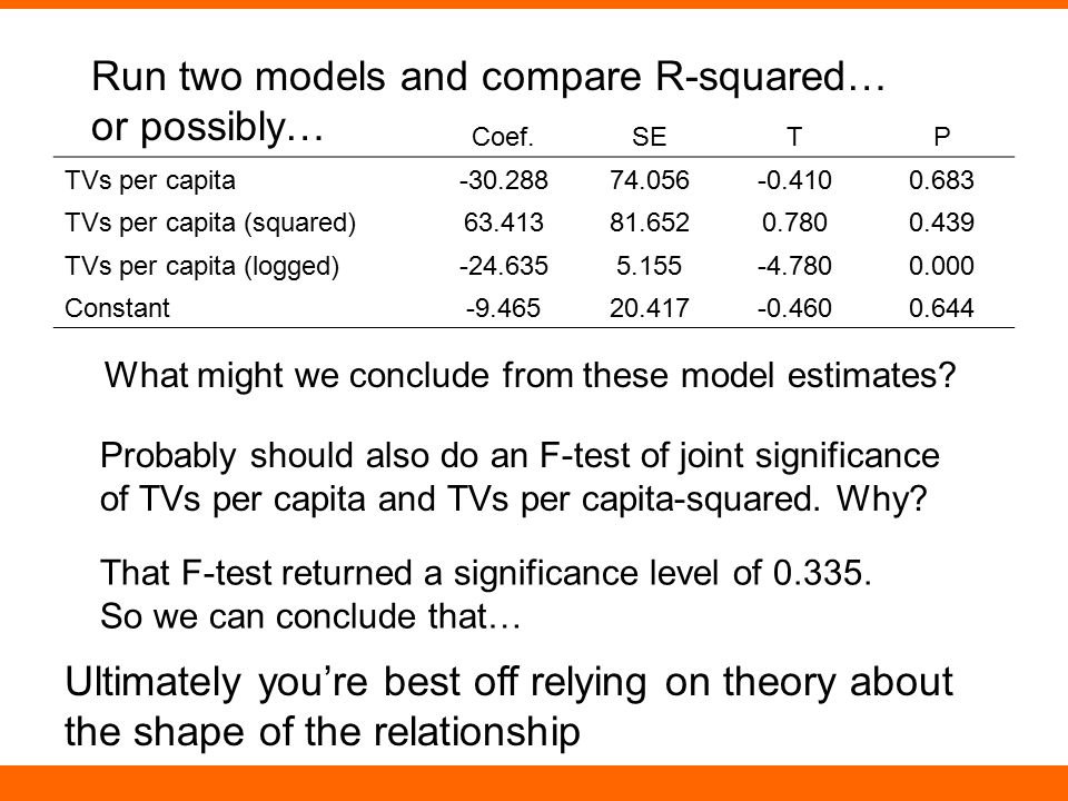 Run two models and compare R-squared… or possibly…