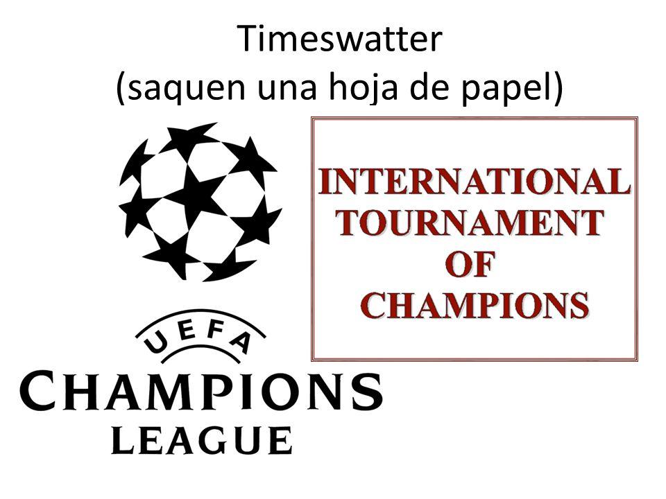 Timeswatter (saquen una hoja de papel)