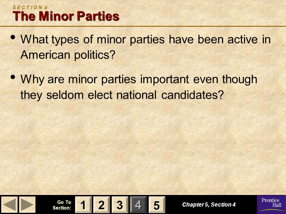 S E C T I O N 4 The Minor Parties