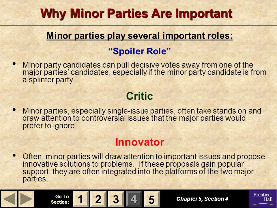 Why Minor Parties Are Important