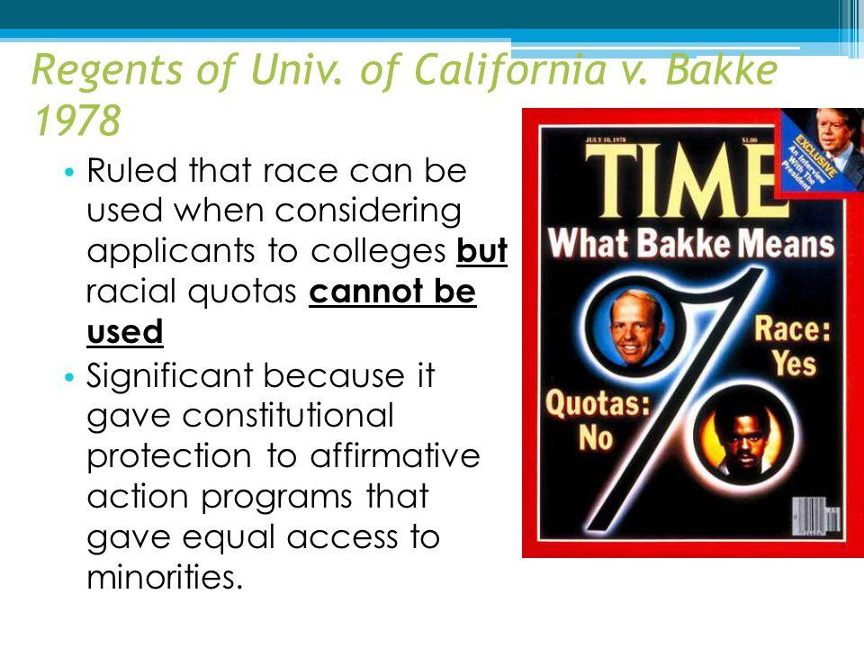 Regents of Univ. of California v. Bakke 1978
