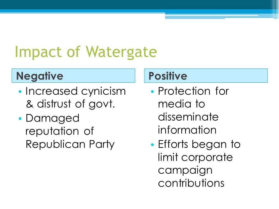 Impact of Watergate Negative Positive