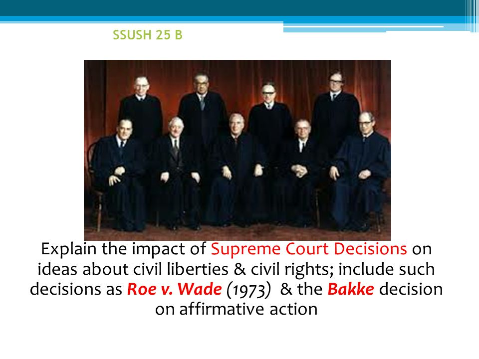 SSUSH 25 B - Pt. out Thrugood Marshall on back row. Appointed to Supreme Ct. by LBJ in 1967. - Also, New Chief Justice Warren Burger.