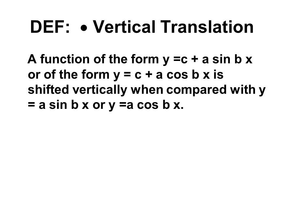 DEF:  Vertical Translation