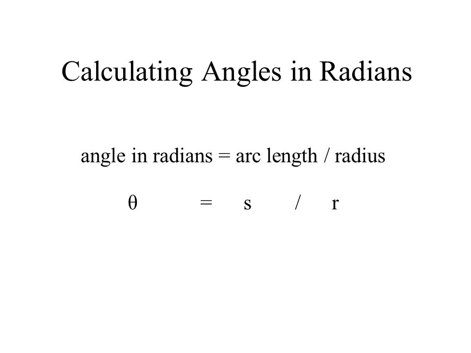 Calculating Angles in Radians