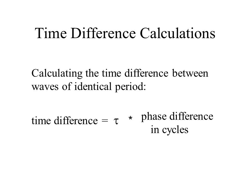 Time Difference Calculations