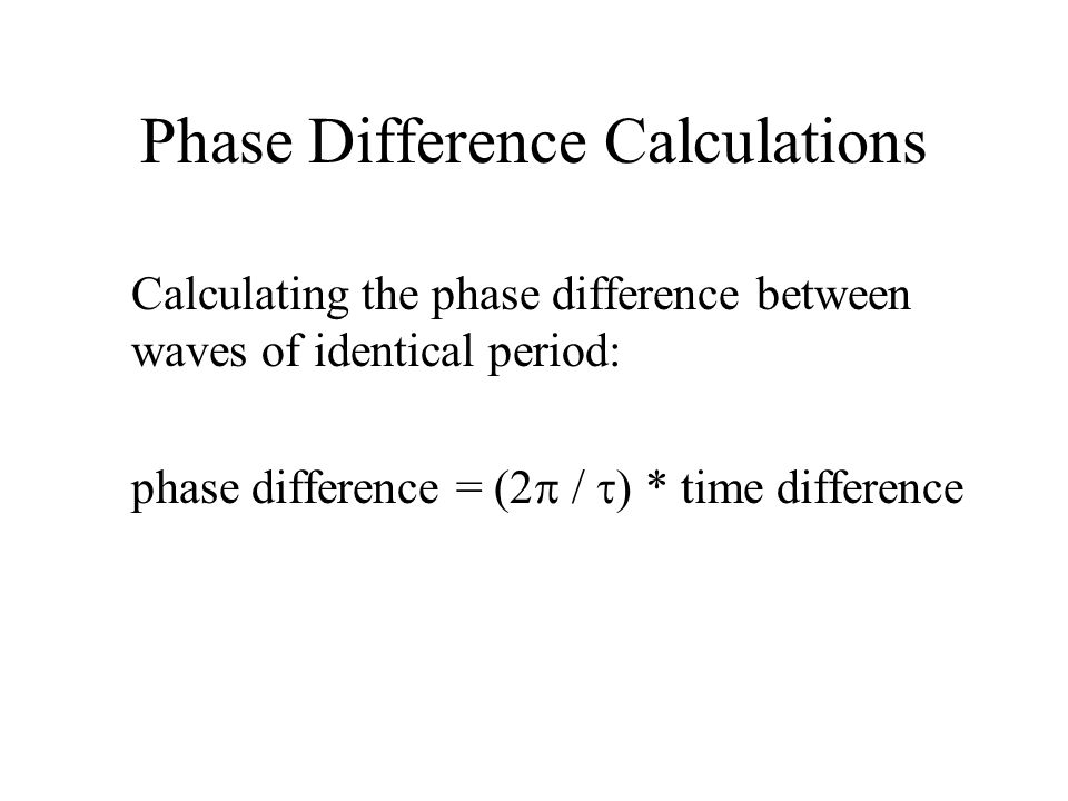 Phase Difference Calculations