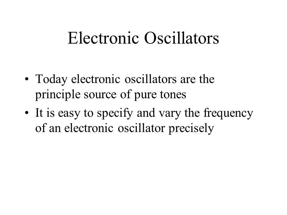 Electronic Oscillators