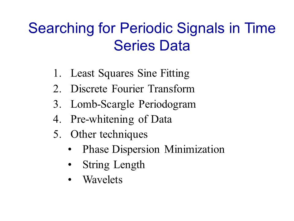 Searching for Periodic Signals in Time Series Data