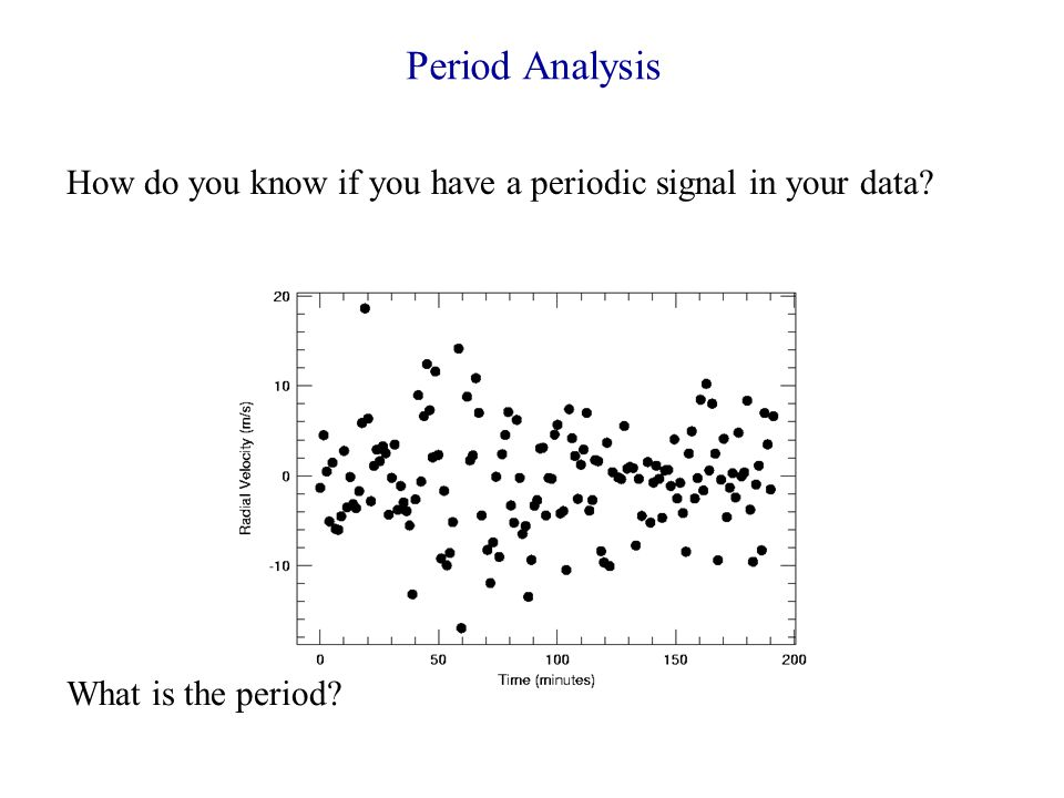 Period Analysis How do you know if you have a periodic signal in your data What is the period