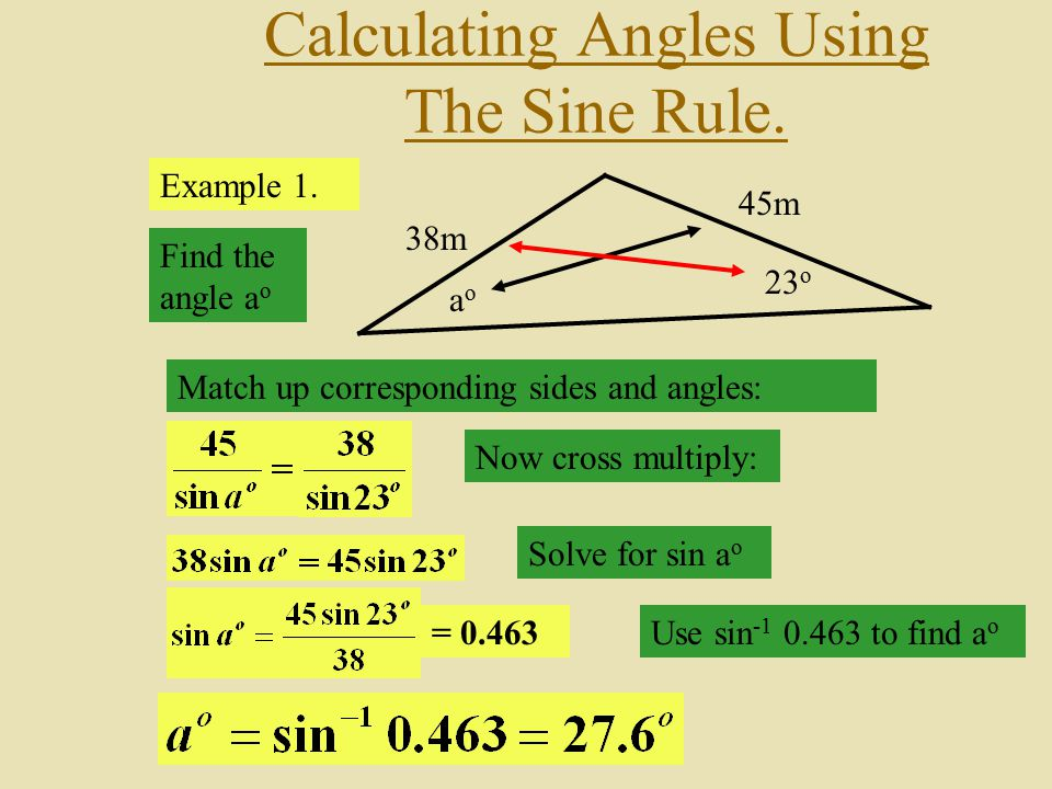 Calculating Angles Using The Sine Rule.