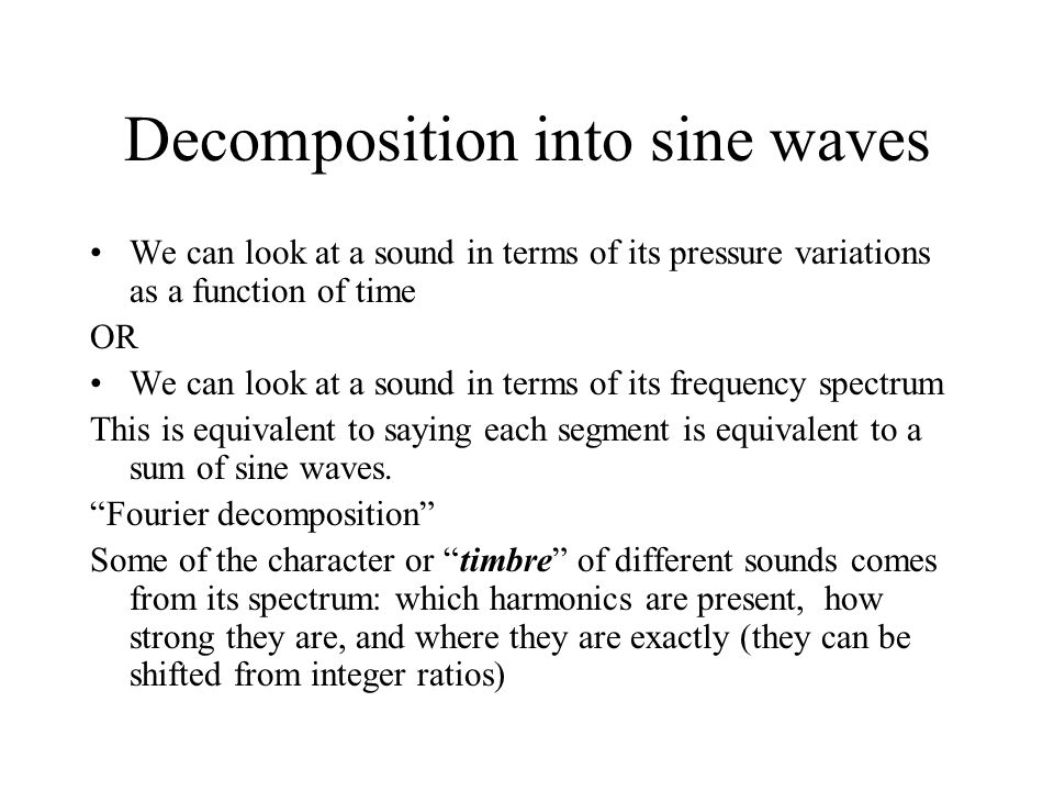 Decomposition into sine waves