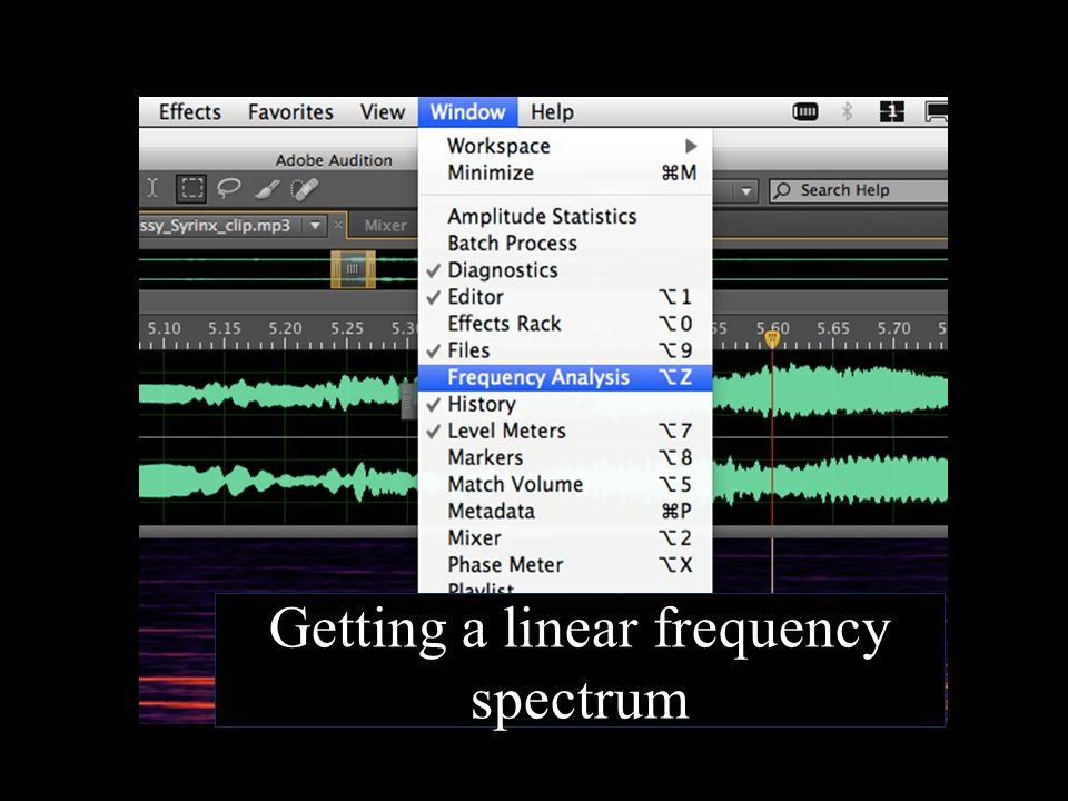 Getting a linear frequency spectrum