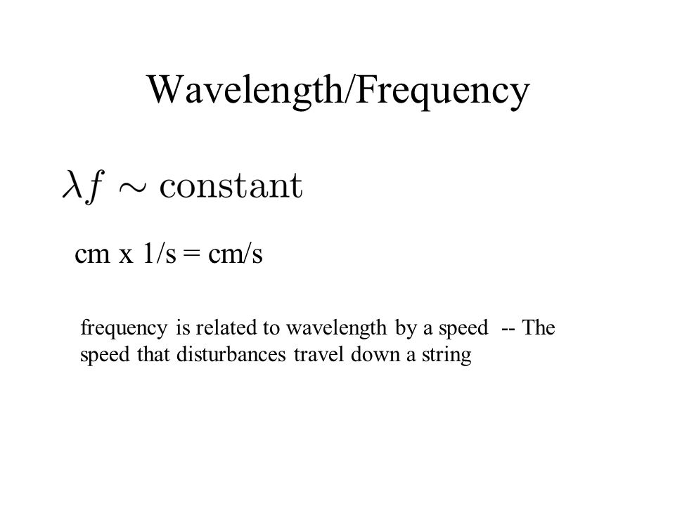 Wavelength/Frequency