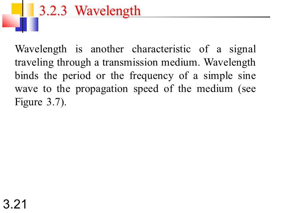 3.2.3 Wavelength