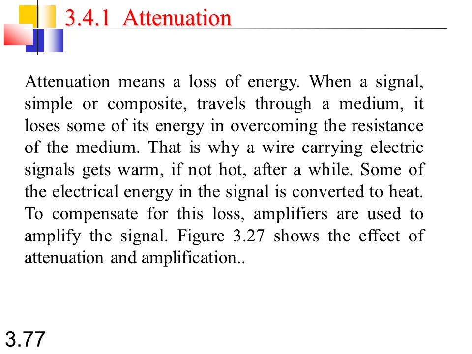3.4.1 Attenuation