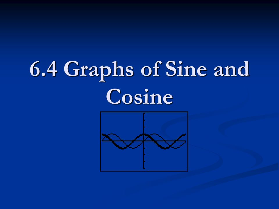 6.4 Graphs of Sine and Cosine