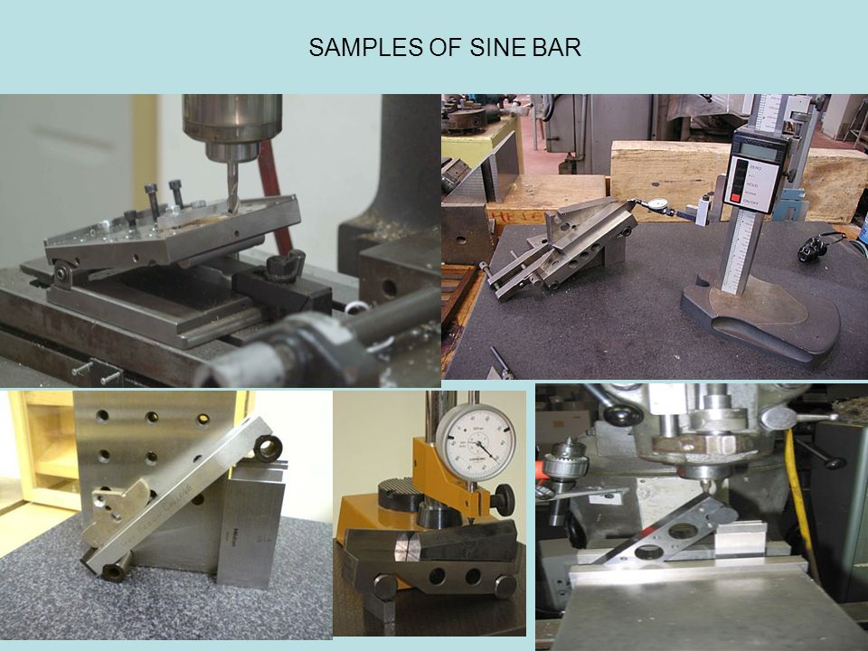 SAMPLES OF SINE BAR