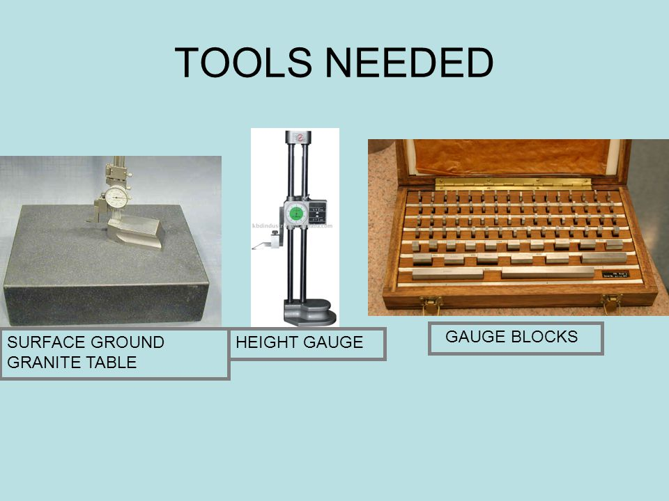 TOOLS NEEDED GAUGE BLOCKS SURFACE GROUND GRANITE TABLE HEIGHT GAUGE