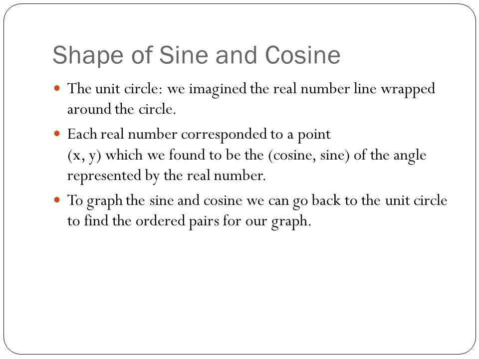 Shape of Sine and Cosine