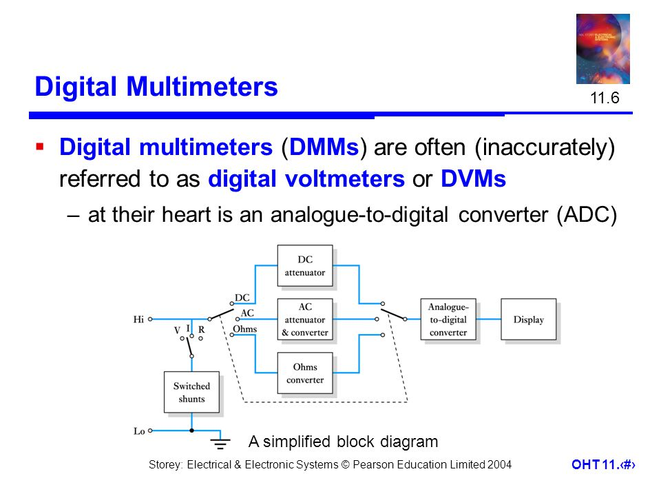 11.6 Digital Multimeters. Digital multimeters (DMMs) are often (inaccurately) referred to as digital voltmeters or DVMs.