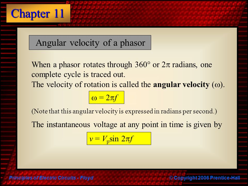 Angular velocity of a phasor