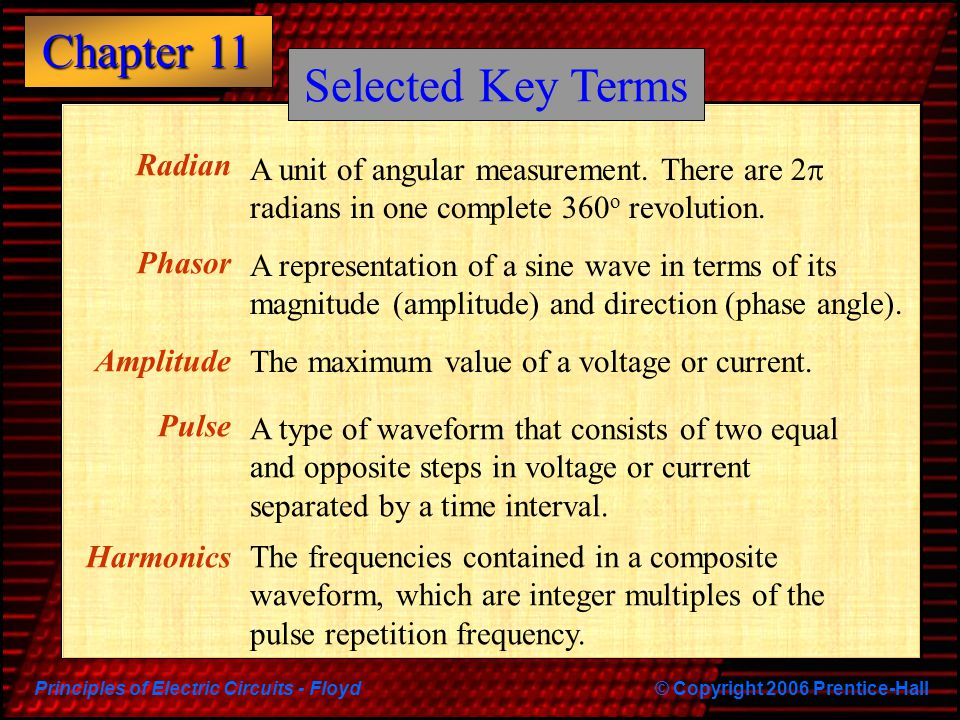 Selected Key Terms Radian