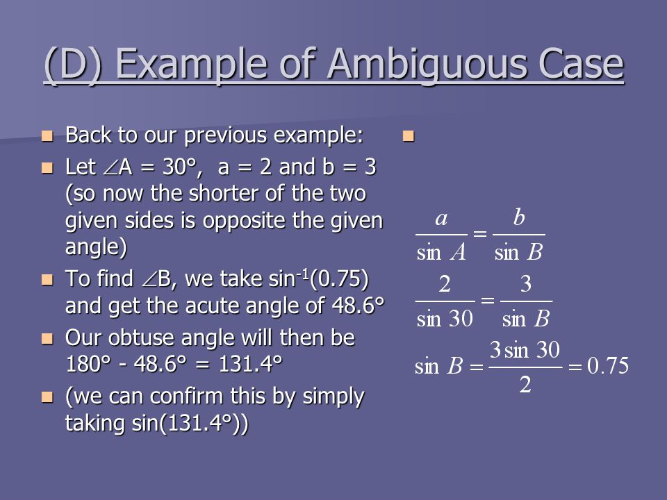 (D) Example of Ambiguous Case
