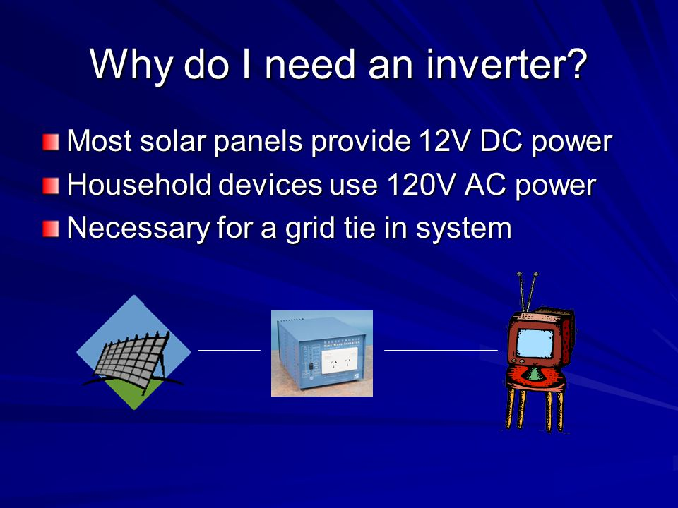 Why do I need an inverter