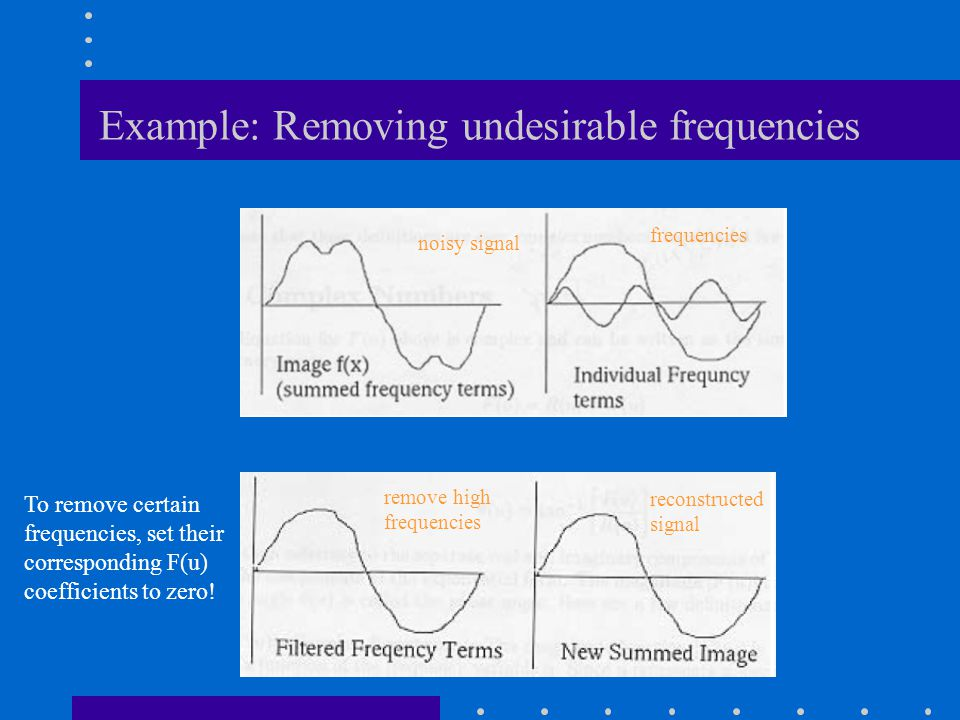 Example: Removing undesirable frequencies
