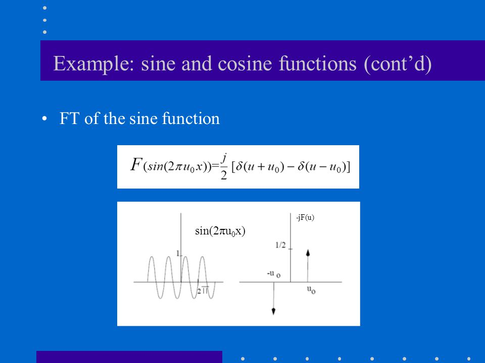 Example: sine and cosine functions (cont'd)