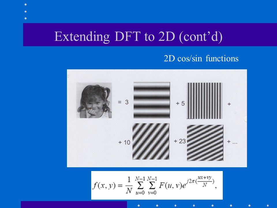 Extending DFT to 2D (cont'd)