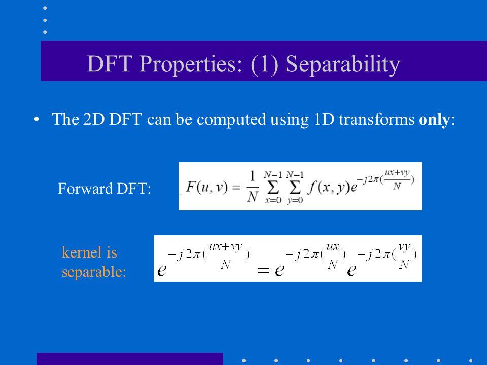 DFT Properties: (1) Separability