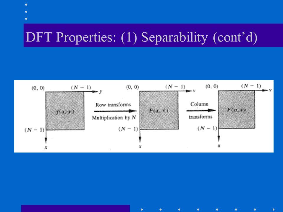 DFT Properties: (1) Separability (cont'd)