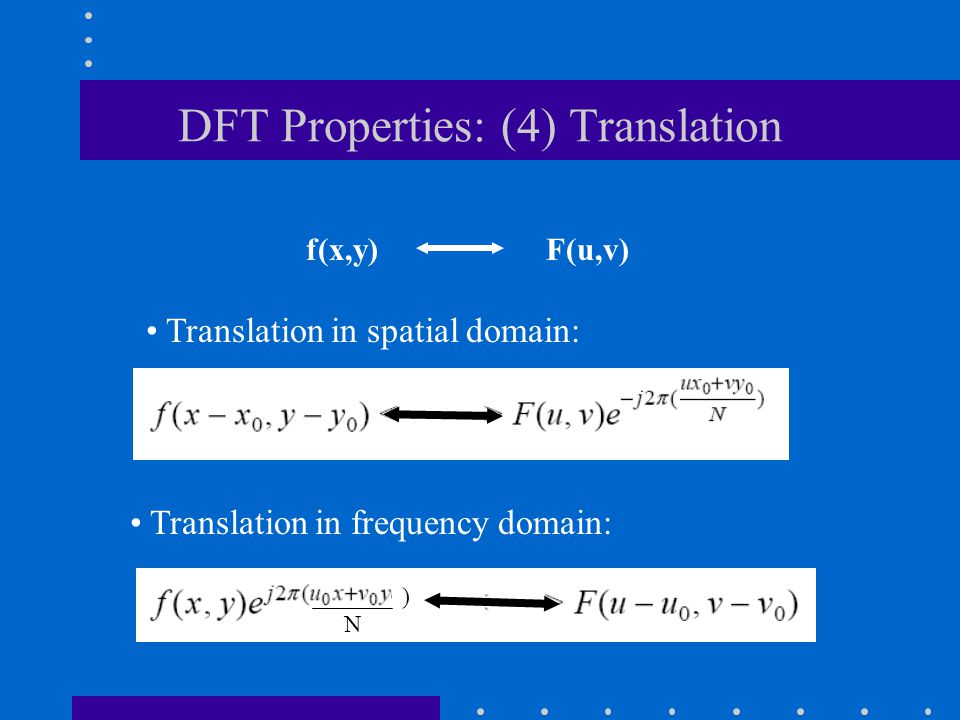 DFT Properties: (4) Translation