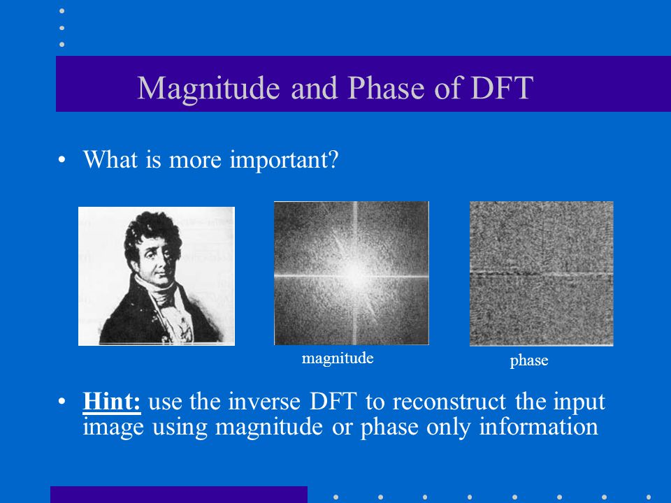 Magnitude and Phase of DFT