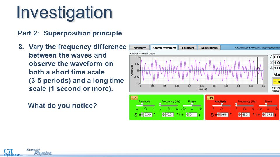 Investigation Part 2: Superposition principle